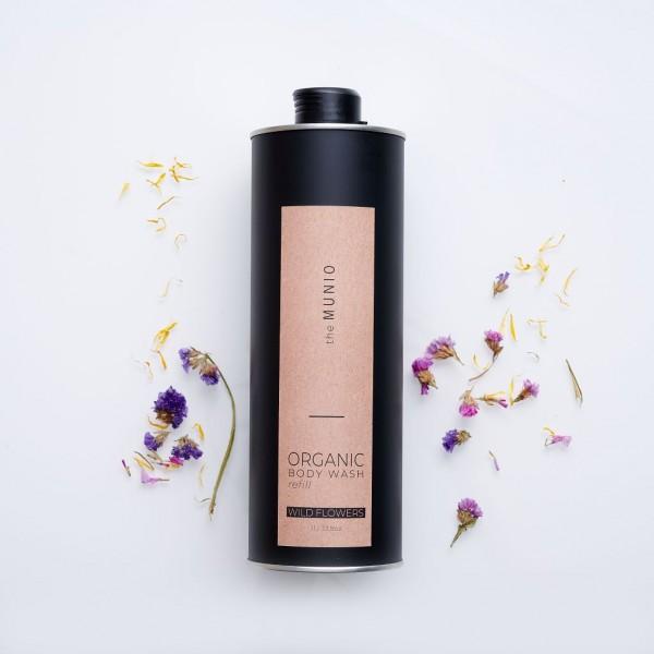 MUNIO SKINCARE Natürliches Duschgel - Refill Wildblumen / Wild Flowers