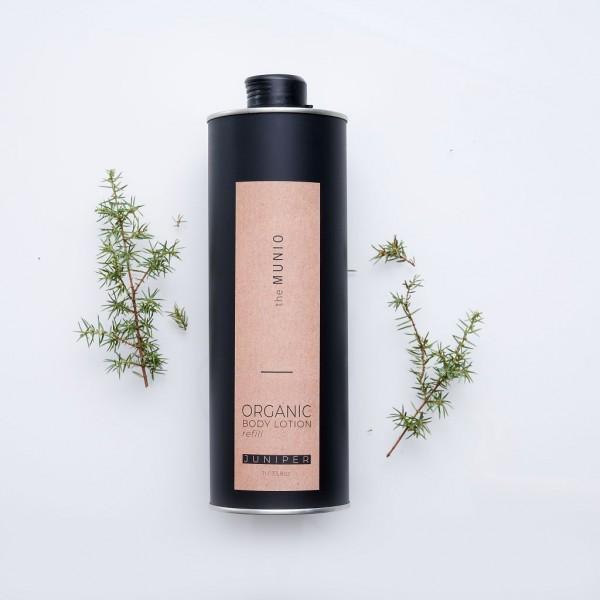 MUNIO SKINCARE Natürliche Body Lotion - Refill Wachholder / Juniper