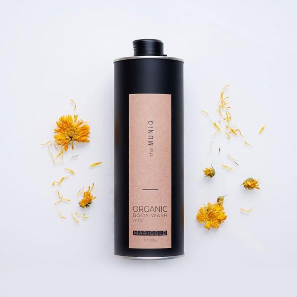 MUNIO SKINCARE Natürliches Duschgel - Refill Ringelblume / Marigold