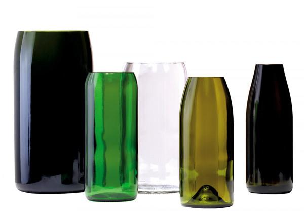 artificial Vasenset aus 5 Vasen - Upcycling