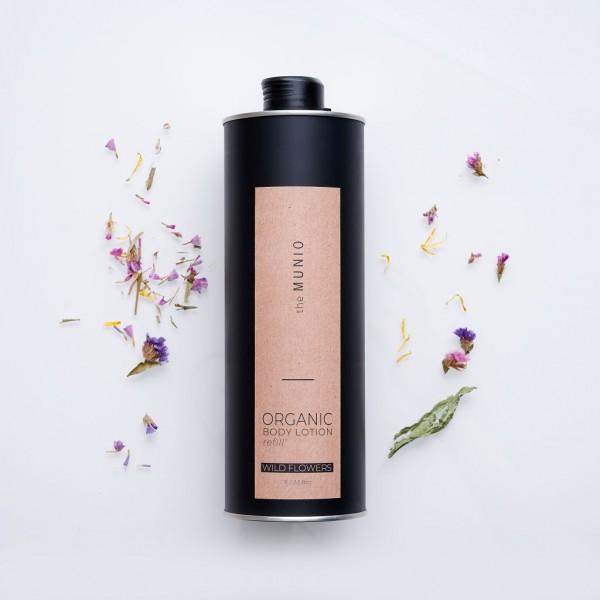 MUNIO SKINCARE Natürliche Body Lotion - Refill Wildblumen / Wild Flowers